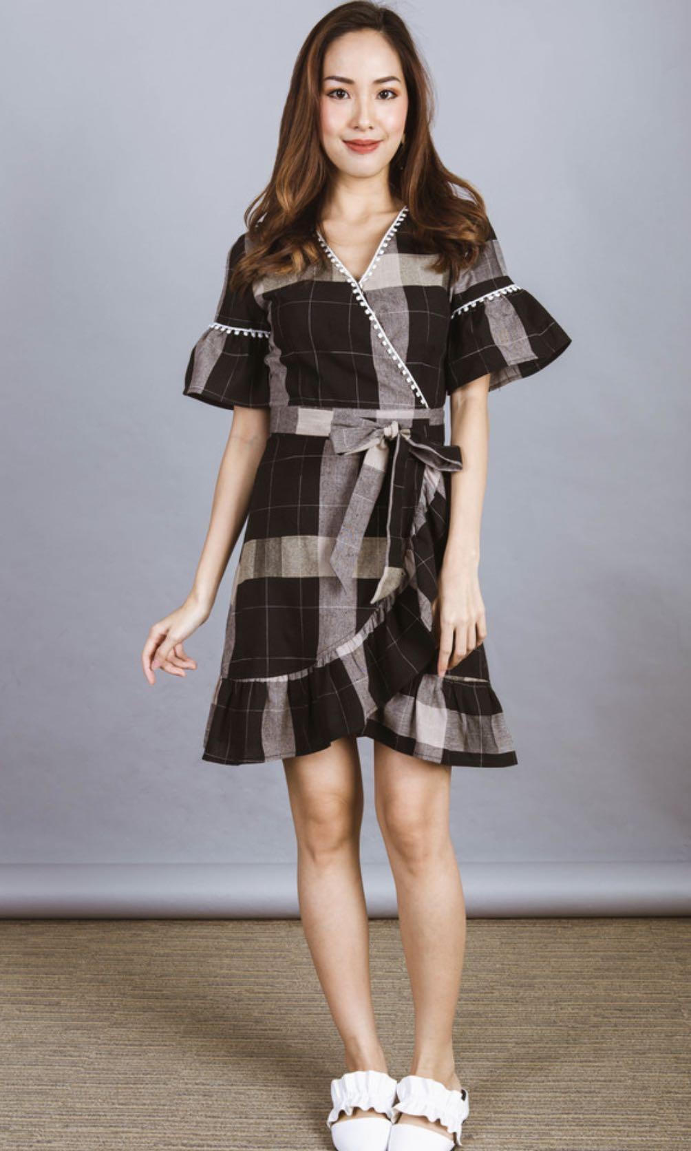 Ohvola Ruth Printed Wrap Dress Brand New