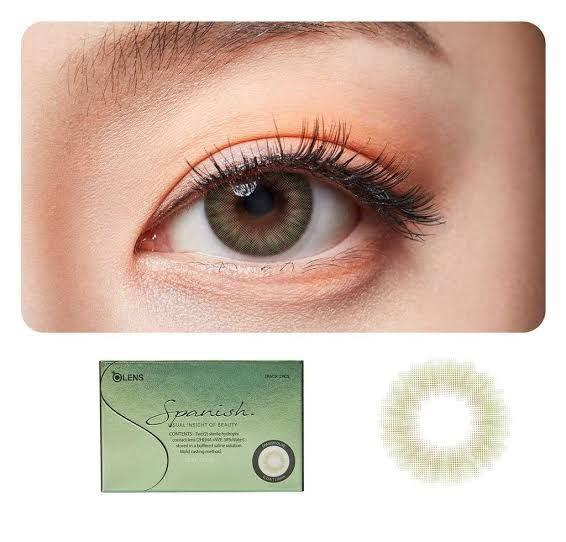 OLENS Spanish Olive Coloured Contact lenses (-3.75)