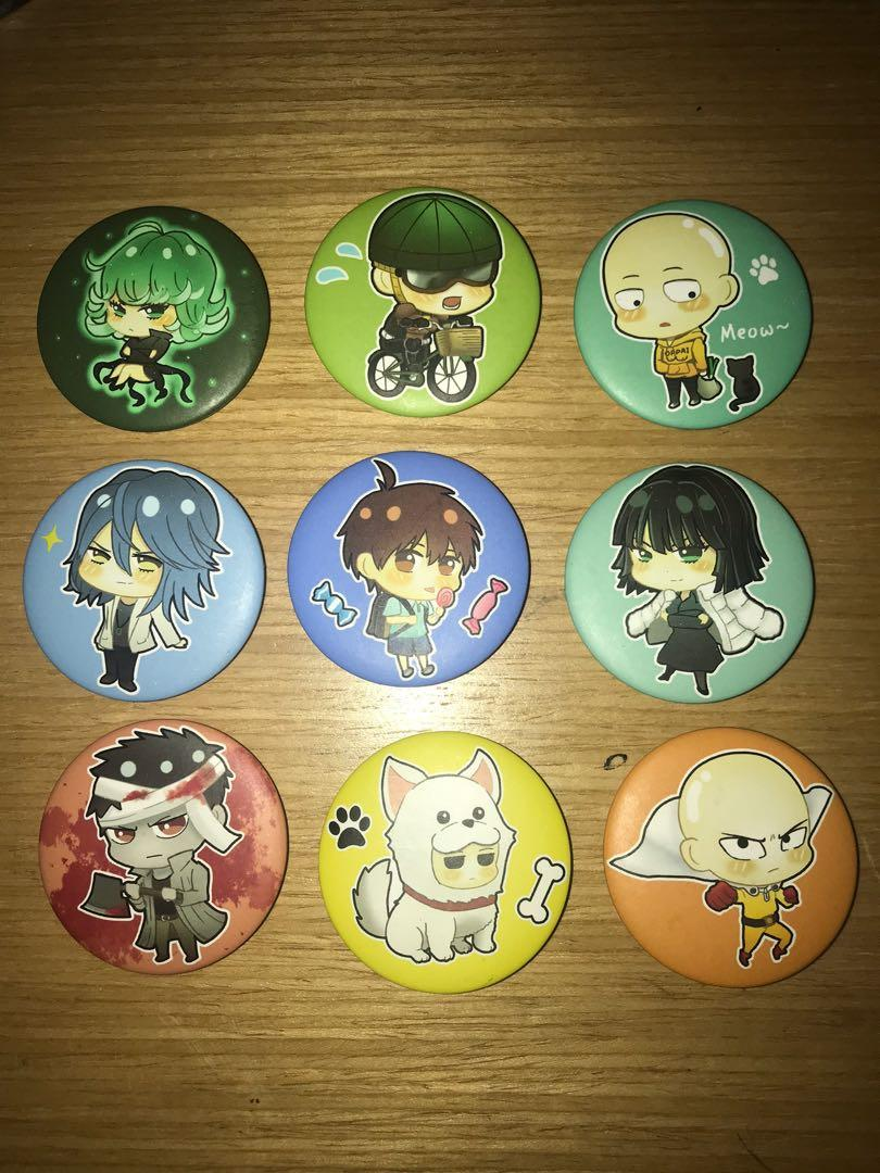 One Punch Man badges
