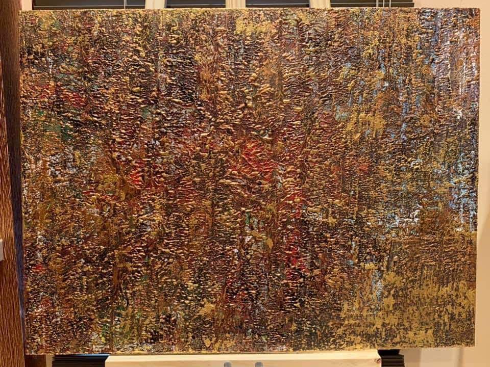 "Original Art Acrylic Wood Painting ""Ritorna"""