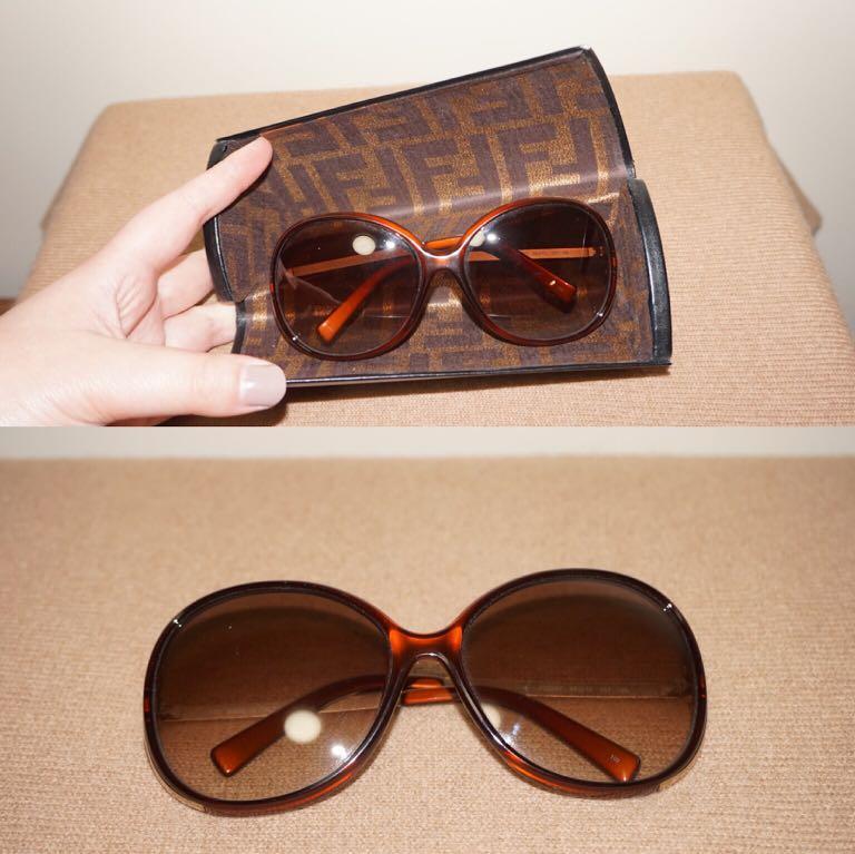 *Perfect Condition* Fendi FS5207 58[]15 201 125 Sunglass in Brown