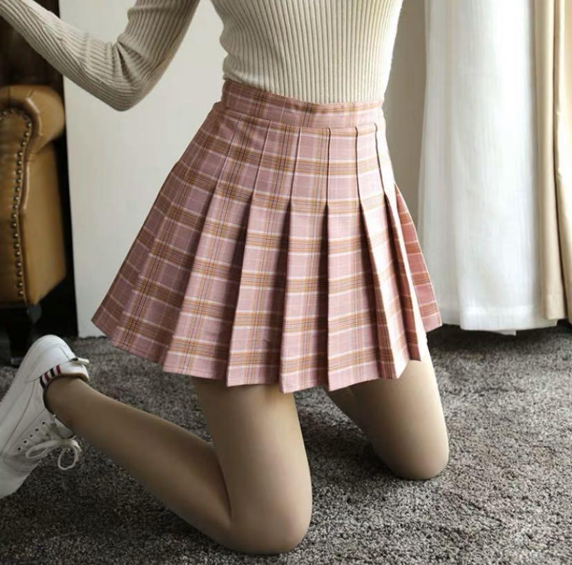 Pink Checkered AA Inspired Tennis Skirt