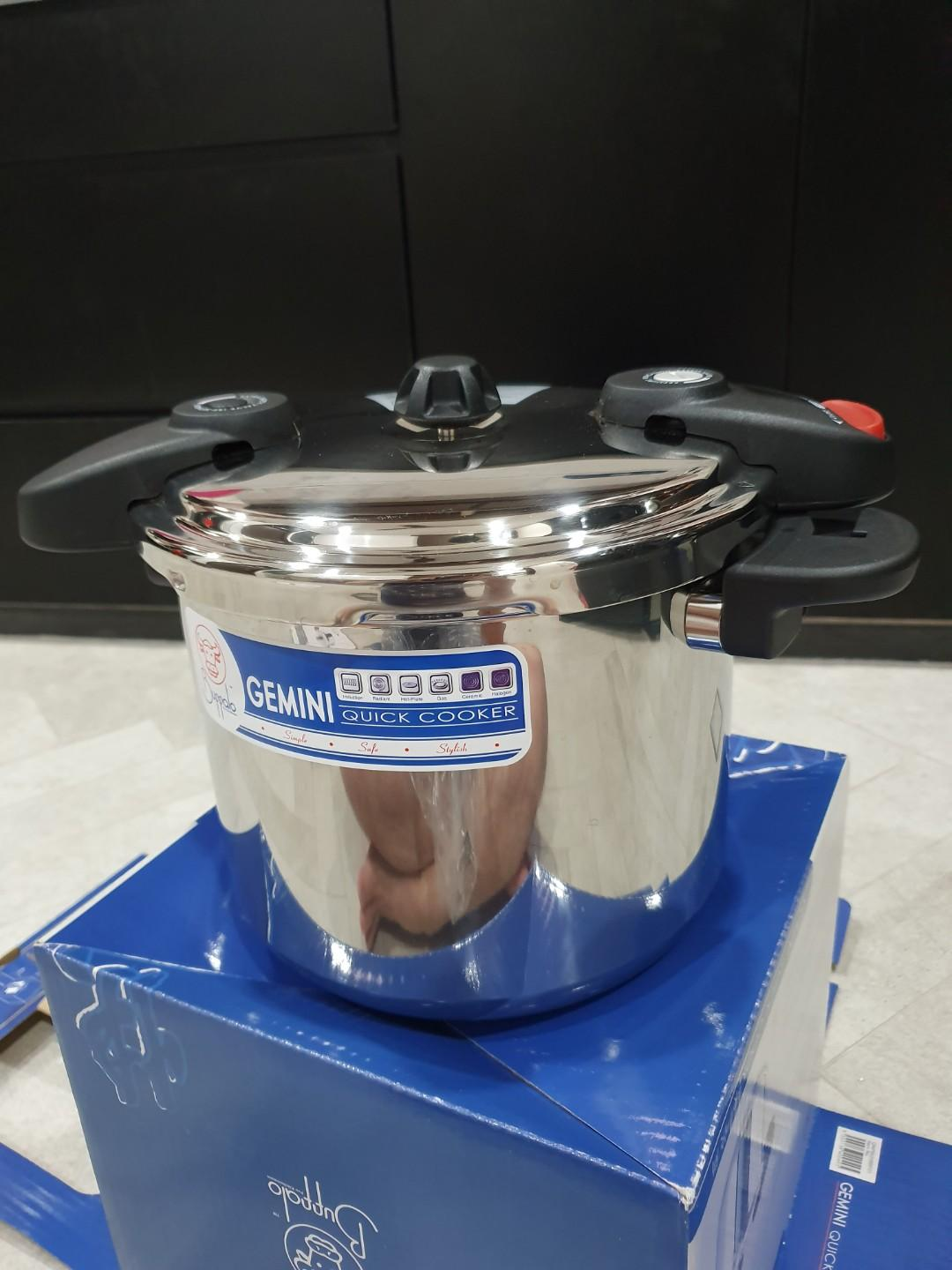 Premium stainless steel pan and pressure cooker
