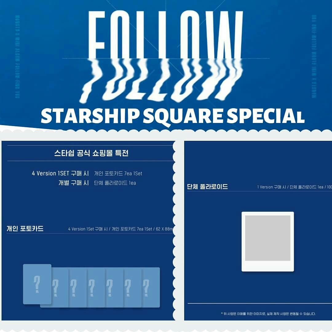 Pre-Order - SEALED}  STARSHIP SQUARE X MONSTA X - FOLLOW - FIND YOU