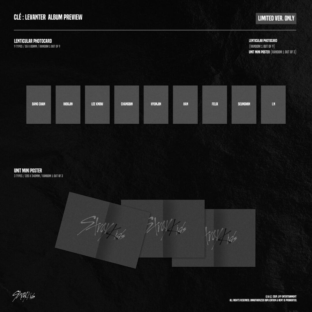 [PRE-ORDER SPECIAL : SEALED] Stray Kids(스트레이 키즈) <Clé : LEVANTER> LIMITED ver