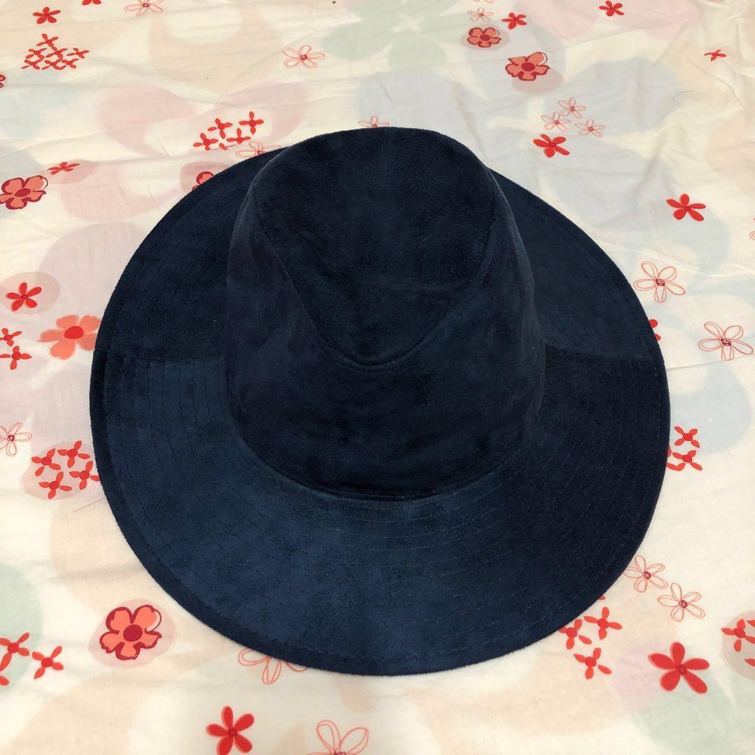 Ray Beams Japan navy hat new 日本 牌子 深藍色 紳士帽 帽子 未剪牌 全新 旅行必備 造型 配搭