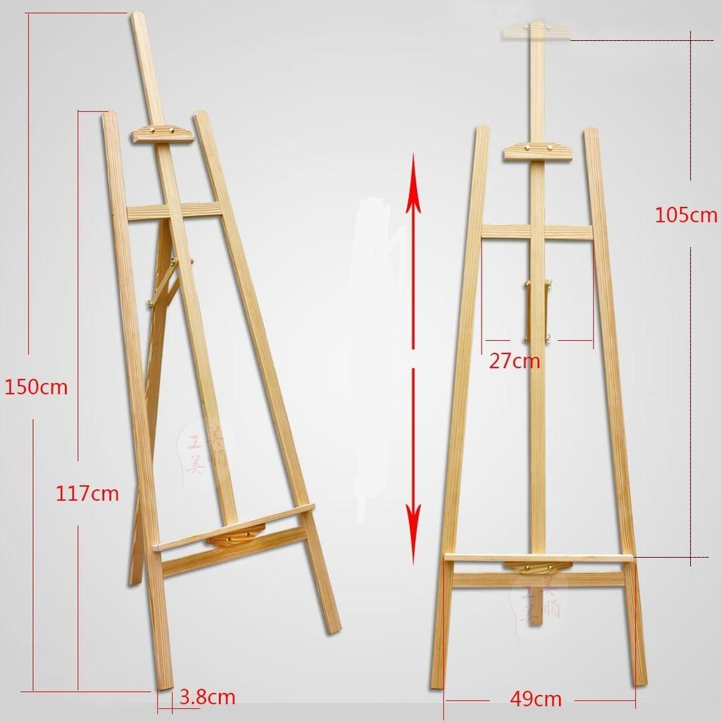 READY STOCK Easel Stand/ Solid Wood Stand