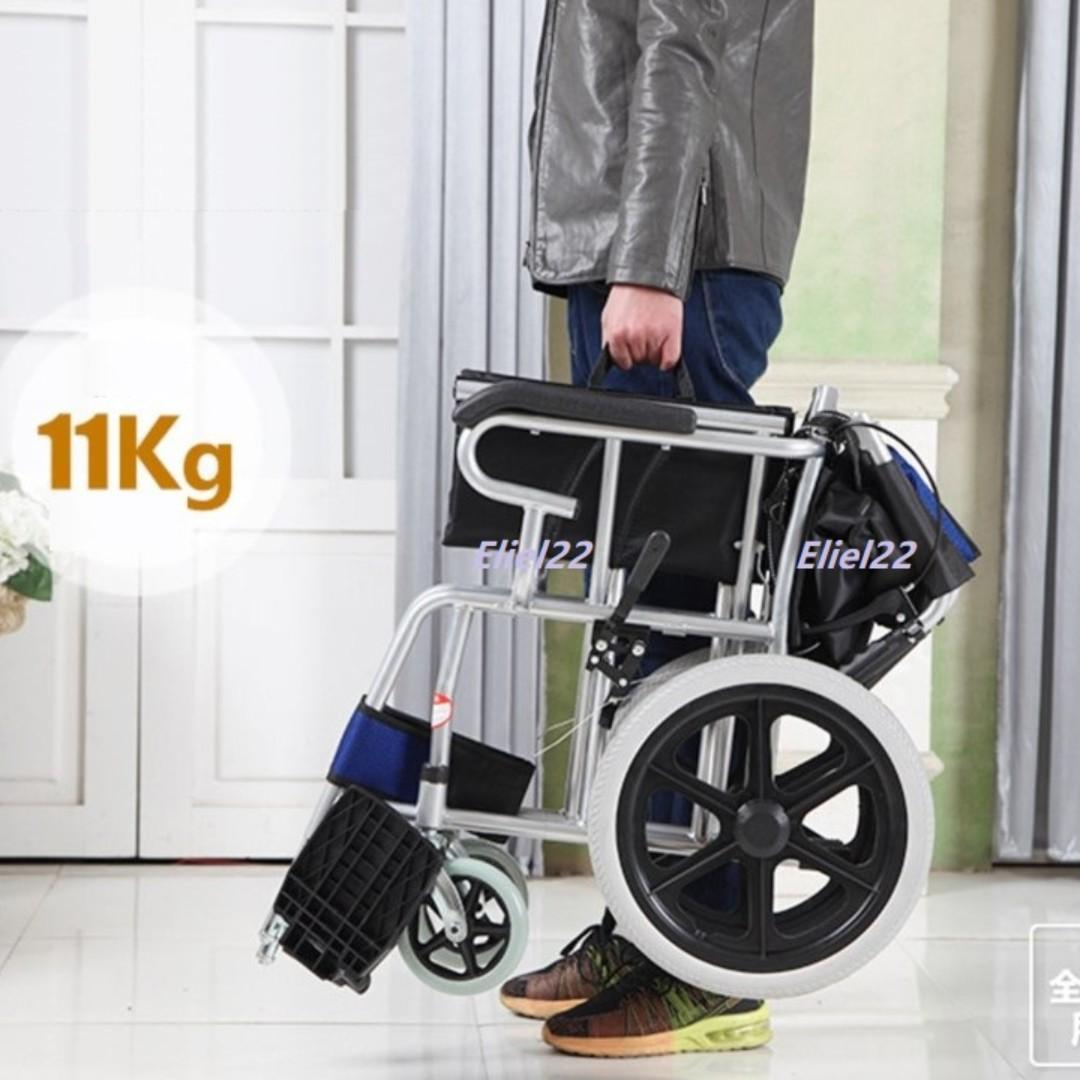 Ready Stocks - Wheelchair Pushchair Light Weight with Foldable Backrest