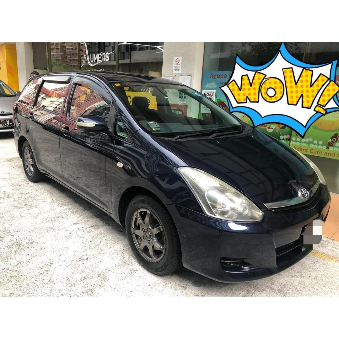 Rental Car Toyota Wish The 7 Seaters for Rent!