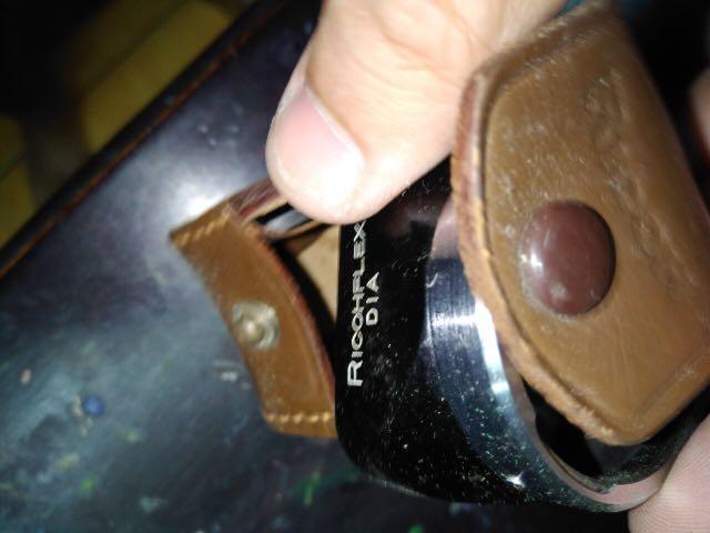Ricohflex Dia 雙眼相機 專用 遮光罩 含皮套 絕版
