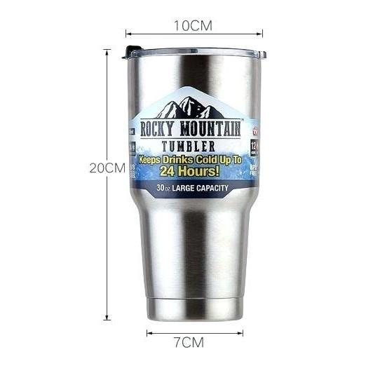 Rocky Mountain Tumbler 100% Original 900 ML + Pouch