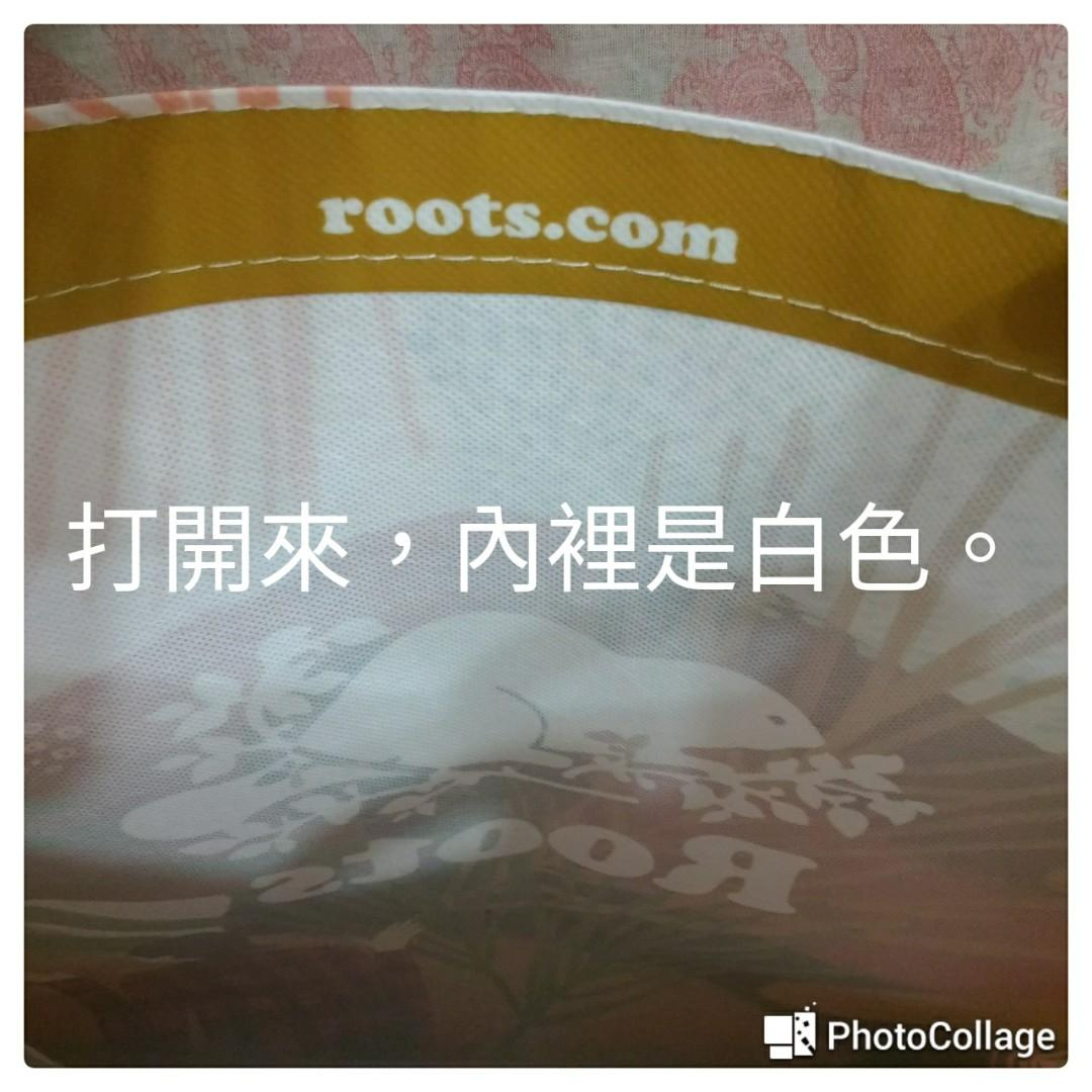Roots 塑膠帆布環保袋