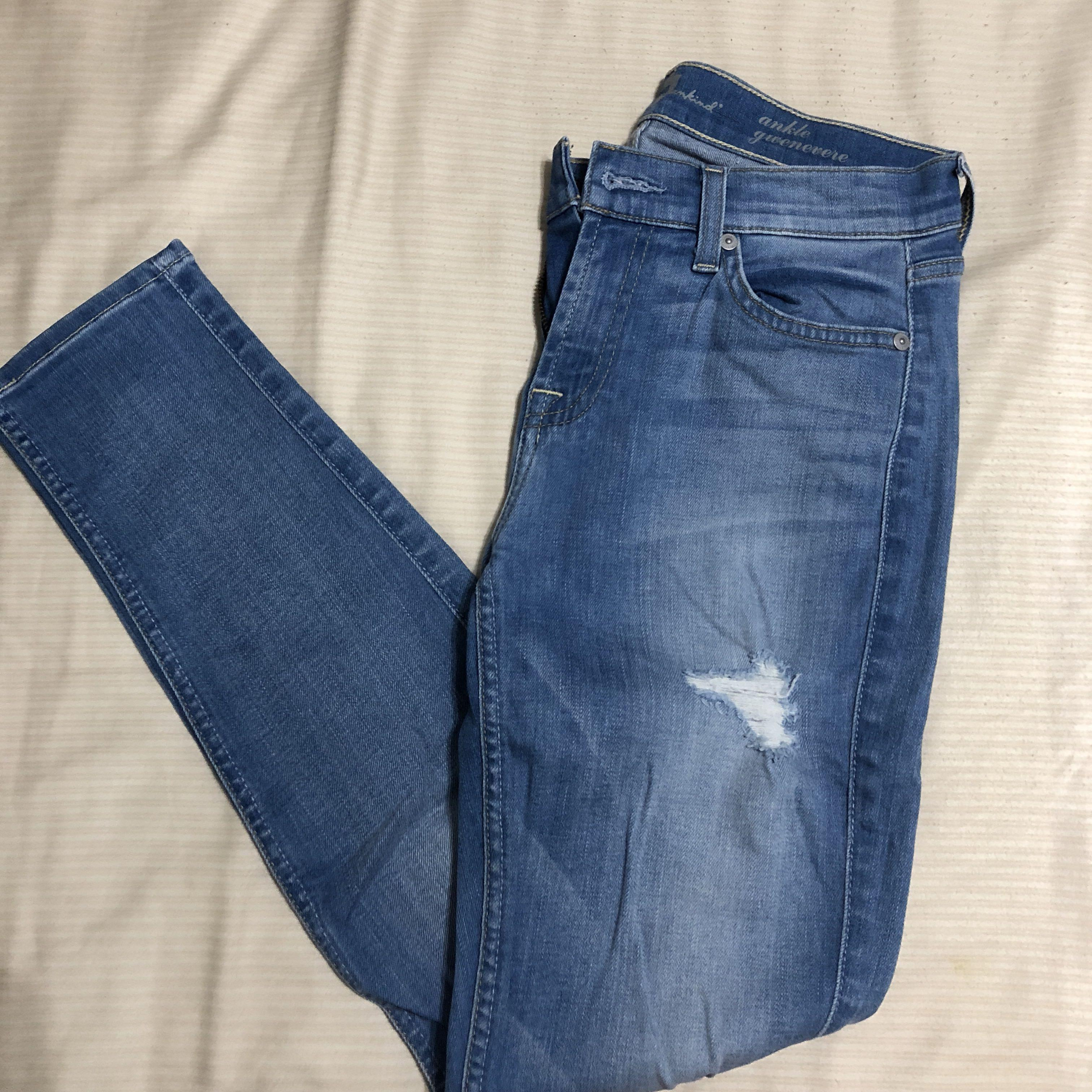 Seven for all mankind distressed skinny jeans size 7