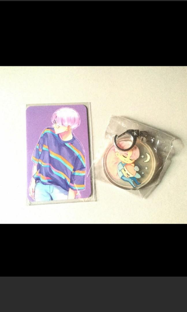 Seventeen jeonghan fansite keychain and pc