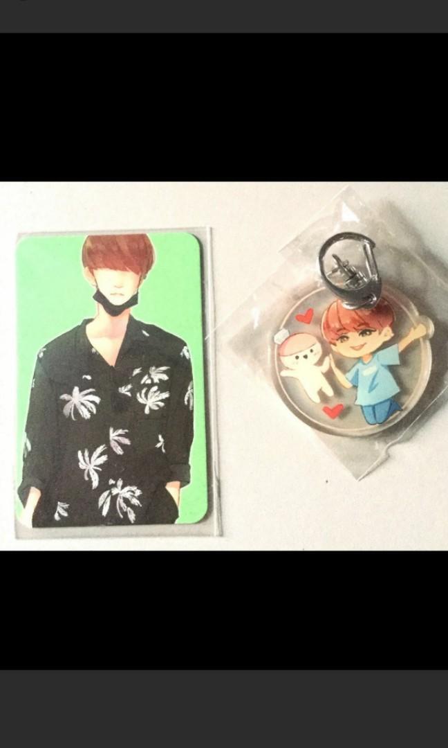 Seventeen joshua fansite keychain pc and sticker