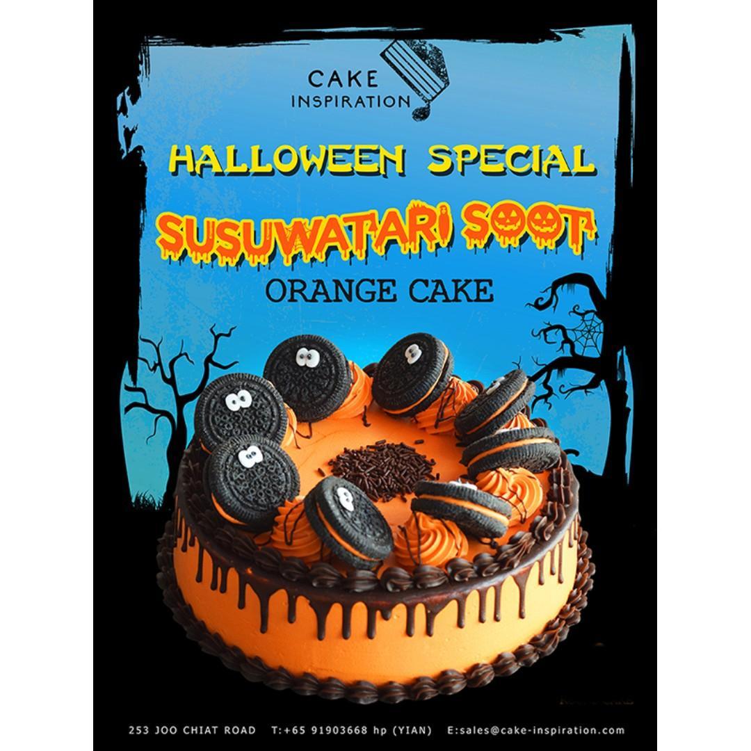 Susuwatari Soot Orange Drip Oreo Cake Halloween Special 2019 #halloween #halloweencake #monstercake #3dcake #desserttable