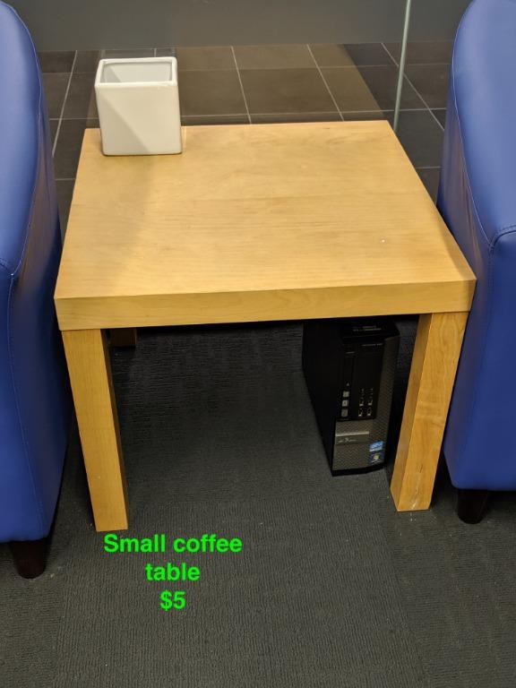 tub chair, desk, small coffee table, filing cabinets