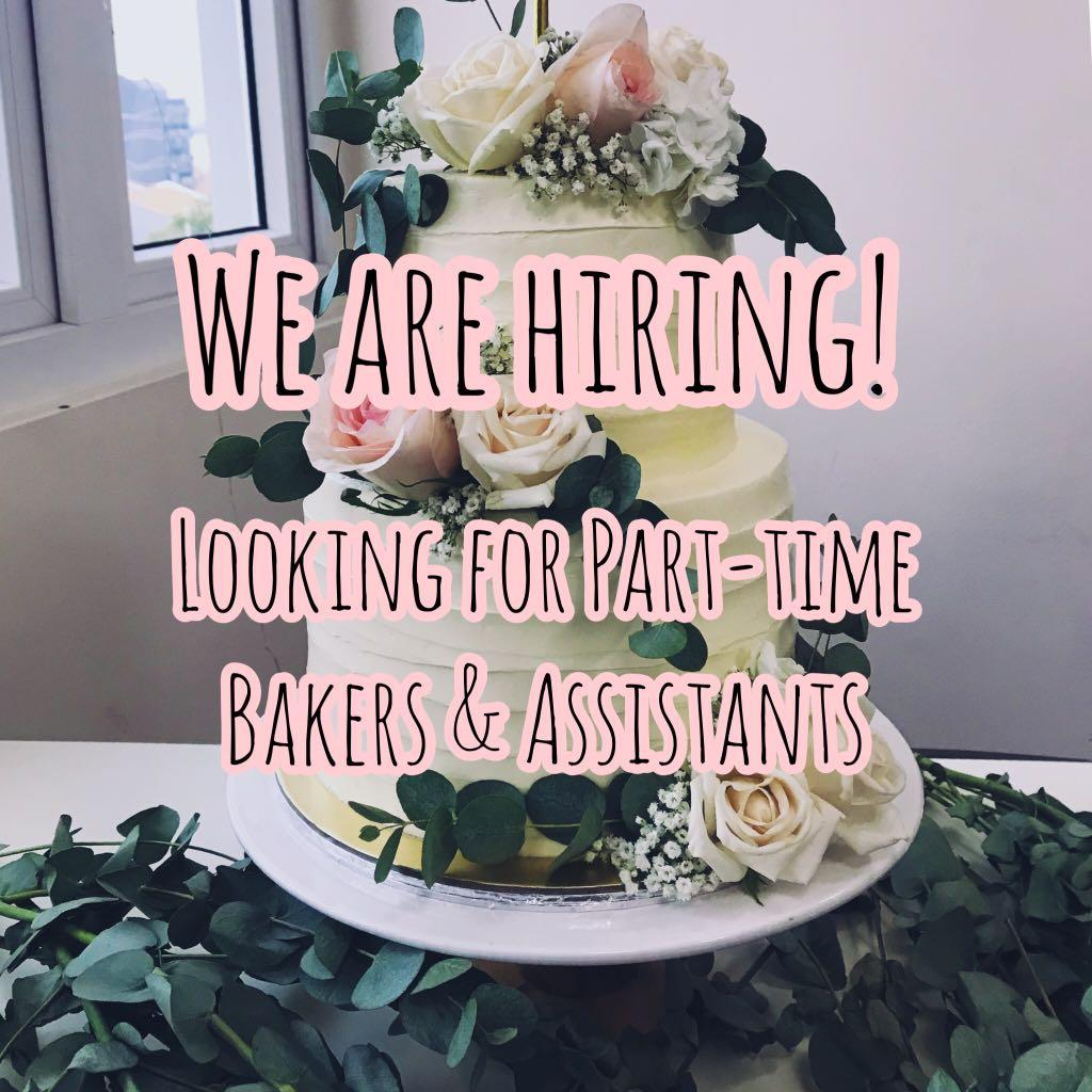 Wanted: Cake Shop Assistants / Bakers / Pastry assistants