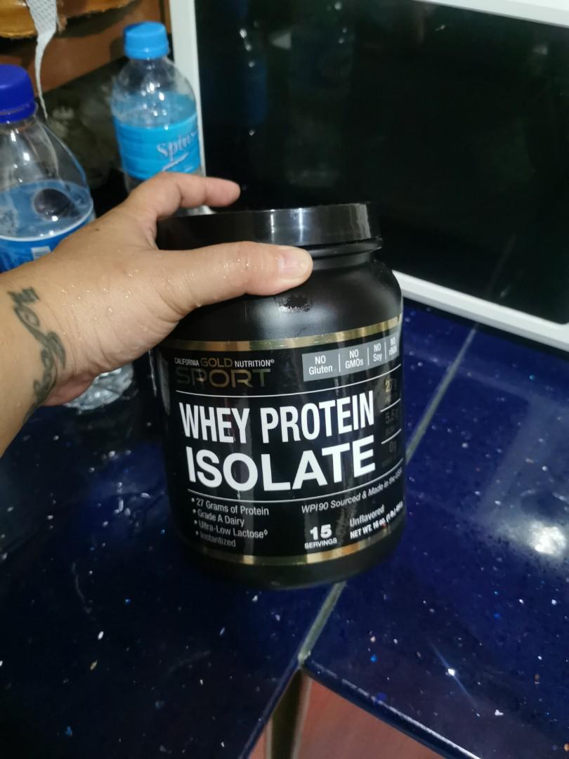 Whey protein isolate 454 grams California gold nutrition