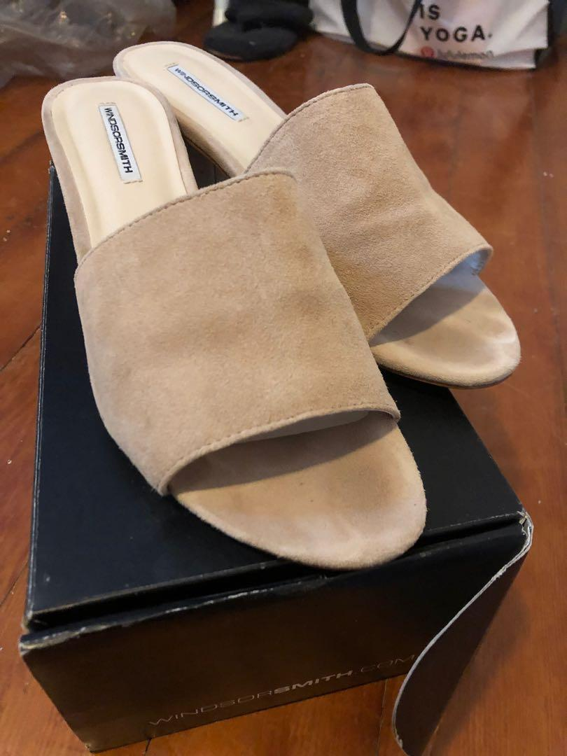 Windsor Smith leather slip on sandals
