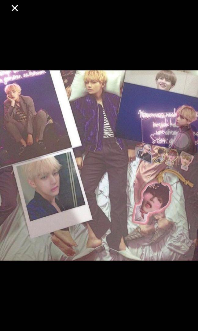WTS BTS V TAEHYUNG album photocard posters postcards