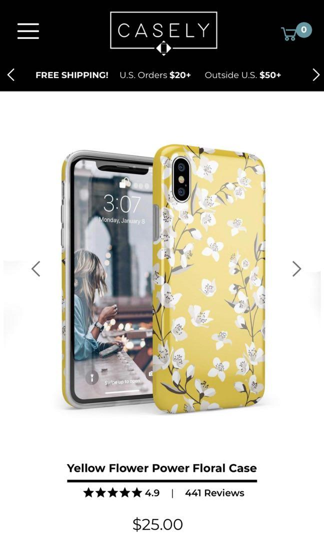 Yellow Flower Power Floral Case iPhone XS/X brand new never used
