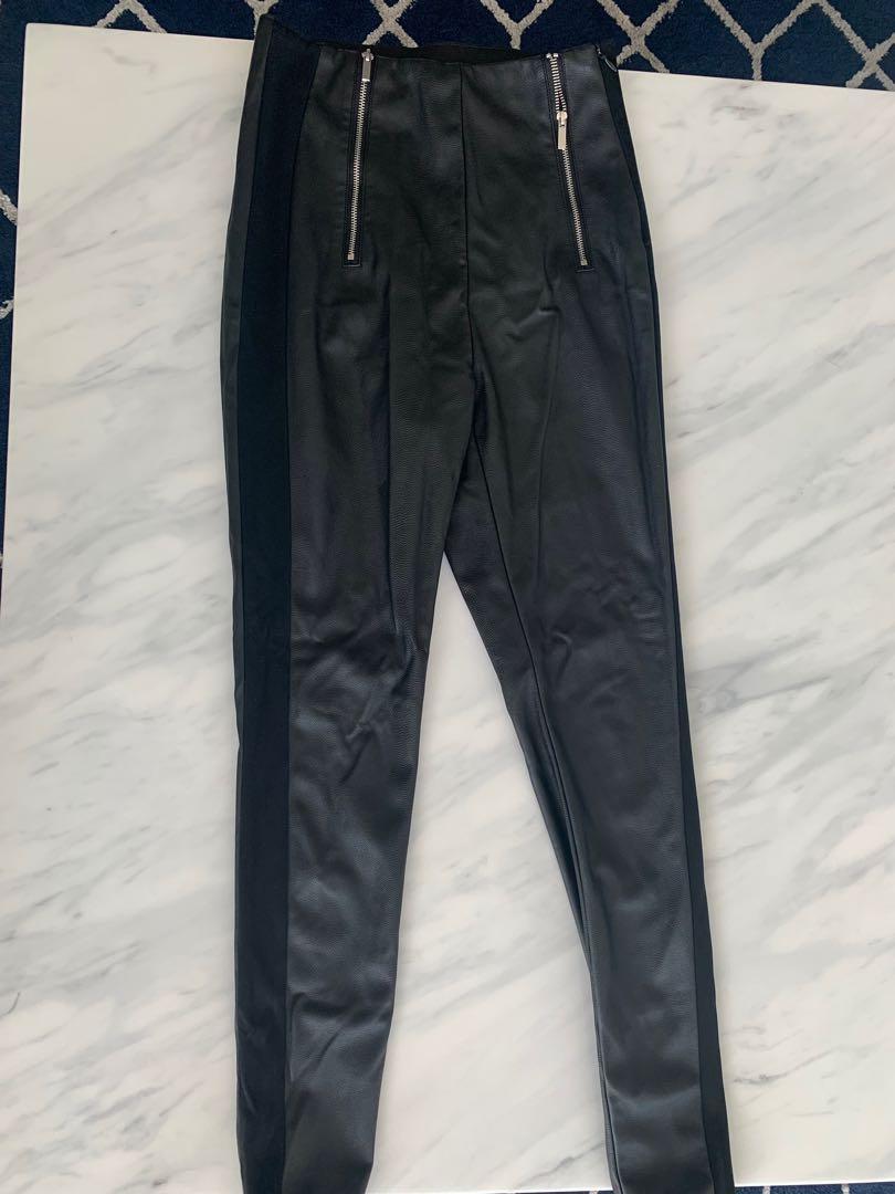 Zara leather pants size XS