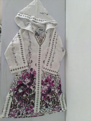 Hooded White Gamis / Gamis Putih