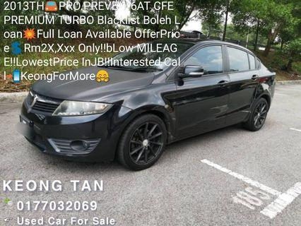 2013TH🚘PRO.PREVE 1.6AT CFE PREMIUM TURBO💥Full Loan Available🎉OfferPrice💲Rm2X,xxx Only/ Bulanan‼Low MILEAGE‼LowestPrice InJB‼Interested Call📲KeongForMore🤗