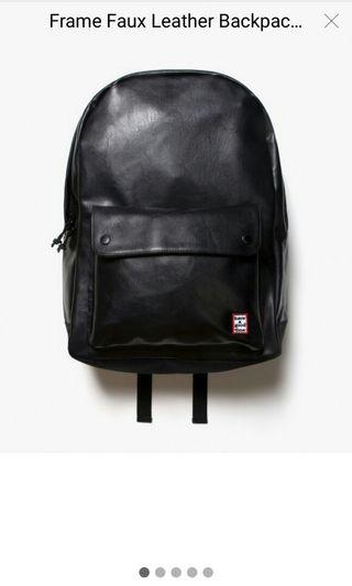 have a good time frame faux leather bagpack