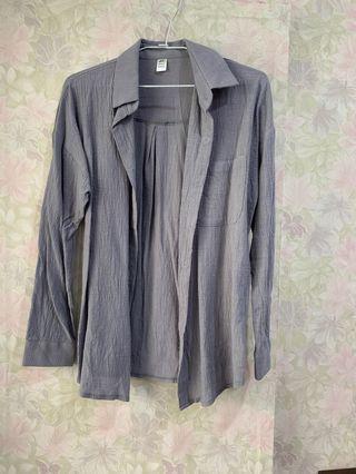 全新)灰色襯衫