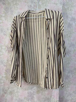 二手)直條紋襯衫