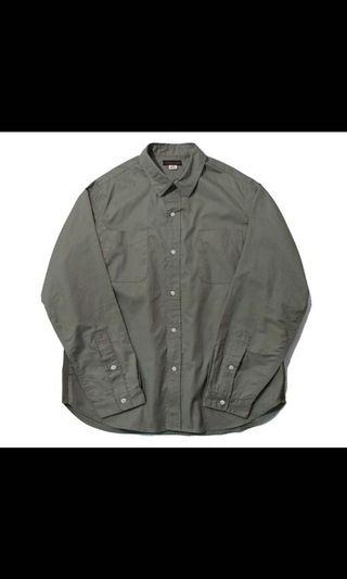 workware tape shirt 軍綠S