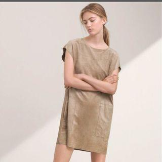 Aritzia Faux Suede Dress