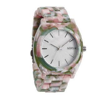 Nixon The Time Teller White Dial Multicolor Acetate Watch A327-1539