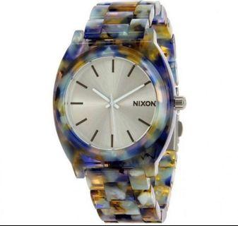 Nixon The Time Teller White Dial Watercolor Acetate Watch A327-2116