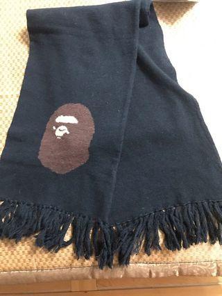 BAPE 圍巾 9成新 人猿圖案