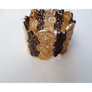 全新 歐美超美細緻雕花民俗風設計手環 手鍊