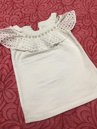 White Top / Shirt for kids 1-3y