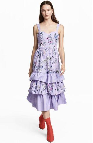 H&M Tiered Floral Midi Dress