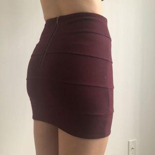 Aritzia Maroon Skirt