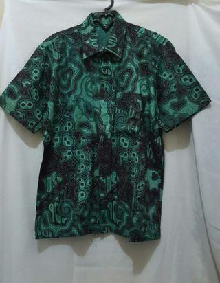 Kemeja Batik hijau size L #1010flazz