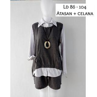 (NEW) Stelan grey (atasan+celana)