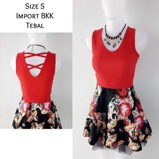 (NEW) Dress red import BKK