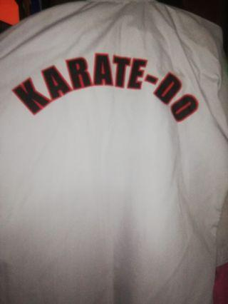 Karate uniform top only with white belt