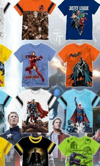 Kaos anak super hero