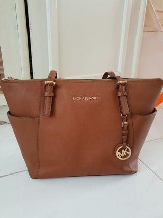 100% Authentic Michael Kors Tote Bag (Brown)