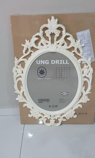 2 nos Ikea Frame Ung Drill Oval White 40x50cm