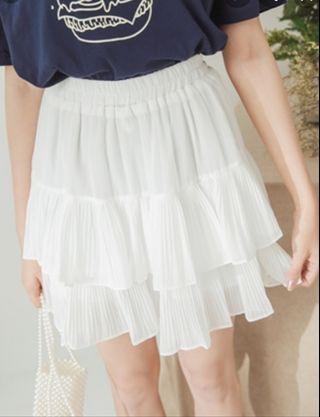 eyescream 鬆緊腰壓褶雙層蛋糕短裙 free size喜歡可以來跟我議價