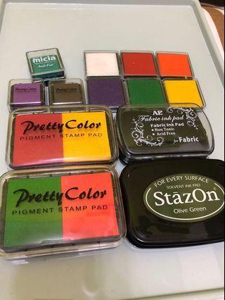 stazon pretty color micia 金屬、油性、水性印台